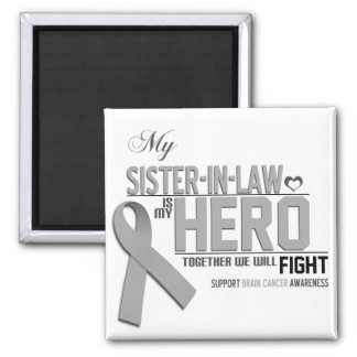 Brain Cancer Awareness:  sister in law Square Magnet