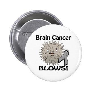 Brain Cancer Blows Awareness Design 6 Cm Round Badge