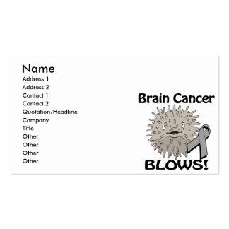 Brain Cancer Blows Awareness Design Business Card