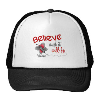 Brain Cancer Butterfly 2 Believe And It Will Be Cap