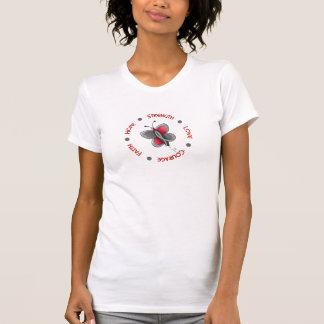 Brain Cancer Butterfly 2 Inspirational Circle T-shirt
