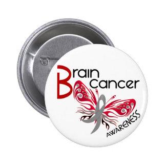 Brain Cancer BUTTERFLY 3 6 Cm Round Badge