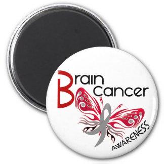 Brain Cancer BUTTERFLY 3 6 Cm Round Magnet
