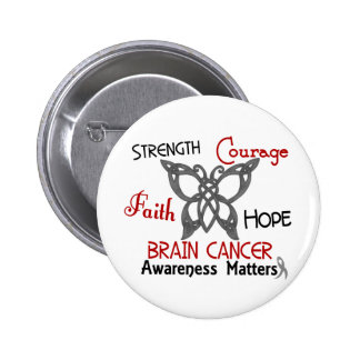 Brain Cancer Celtic Butterfly 3 6 Cm Round Badge