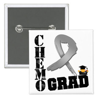 Brain Cancer Chemo Grad Pinback Buttons