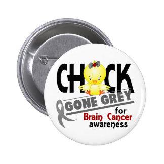 Brain Cancer Chick Gone Grey 2 Pinback Button