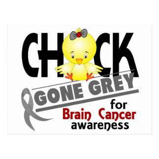 Brain Cancer Chick Gone Grey 2 Postcard