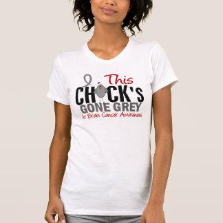 BRAIN CANCER Chick Gone Grey Tee Shirts