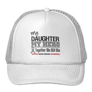 BRAIN CANCER Daughter My Hero Mesh Hat