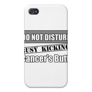 Brain Cancer Do Not Disturb Kicking Butt iPhone 4 Cases