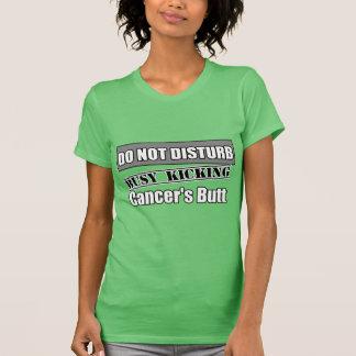 Brain Cancer Do Not Disturb Kicking Butt Tee Shirts