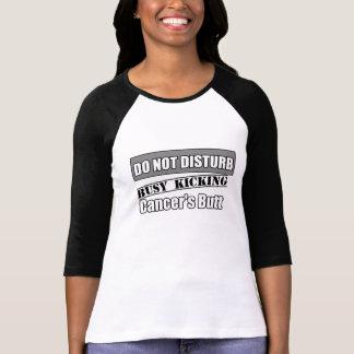 Brain Cancer Do Not Disturb Kicking Butt T-shirt