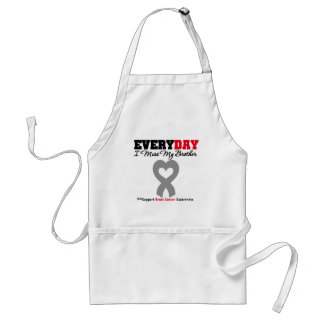 Brain Cancer Every Day I Miss My Brother Adult Apron