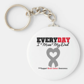 Brain Cancer Every Day I Miss My Dad Keychain