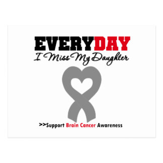 Brain Cancer Every Day I Miss My Daughter Postcard