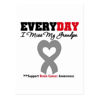 Brain Cancer Every Day I Miss My Grandpa Postcard