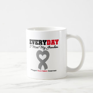 Brain Cancer Every Day I Miss My Grandson Coffee Mugs