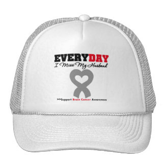 Brain Cancer Every Day I Miss My Husband Mesh Hats