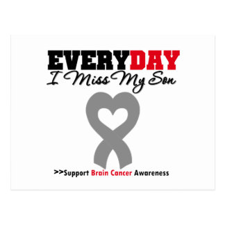 Brain Cancer Every Day I Miss My Son Postcard