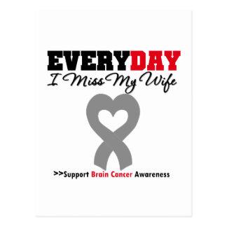 Brain Cancer Every Day I Miss My Wife Postcard