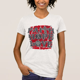 Brain Cancer Faith Hope Love T Shirts