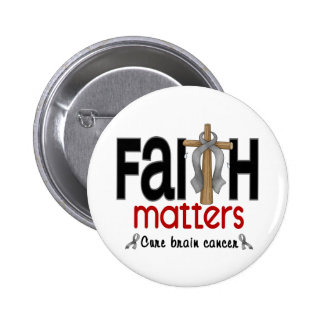 Brain Cancer Faith Matters Cross 1 6 Cm Round Badge