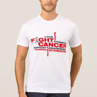Brain Cancer Fight Collage Tee Shirts
