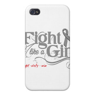 Brain Cancer Fight Like A Girl Elegant iPhone 4 Case