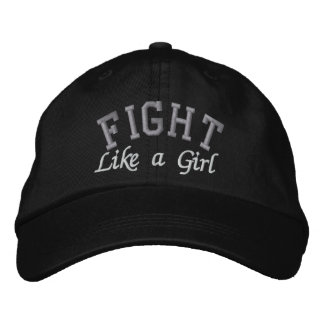 Brain Cancer - Fight Like a Girl Embroidered Hats
