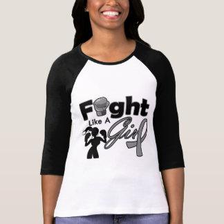 Brain Cancer Fight Like A Girl Silhouette Tshirt