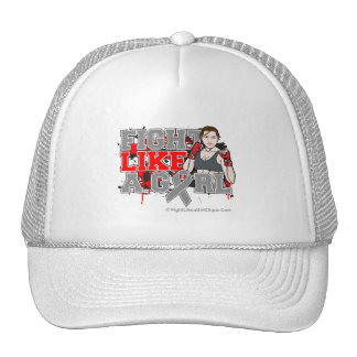 Brain Cancer Fighter - Fights Like a Girl Trucker Hat