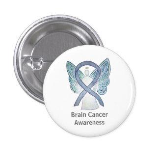 Brain Cancer Gray Awareness Ribbon Angel Pin
