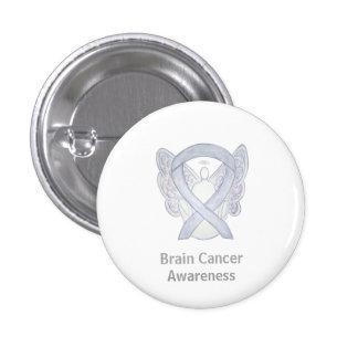 Brain Cancer Gray Awareness Ribbon Custom Pins