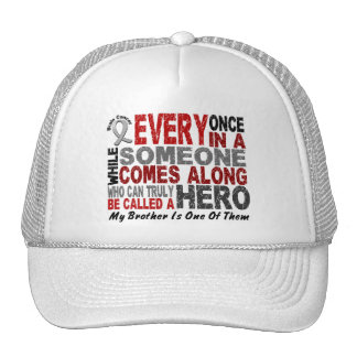 Brain Cancer HERO COMES ALONG 1 Brother Trucker Hat