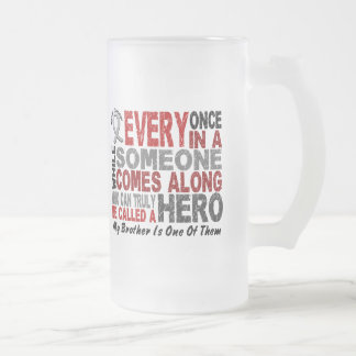 Brain Cancer HERO COMES ALONG 1 Brother Mugs