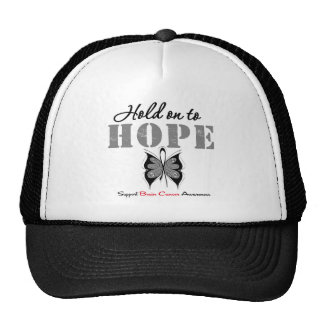 Brain Cancer Hold On To Hope Mesh Hat