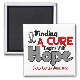 Brain Cancer HOPE 5 Square Magnet