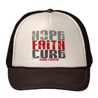 Brain Cancer HOPE FAITH CURE Trucker Hat