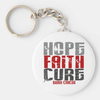 Brain Cancer HOPE FAITH CURE Keychains
