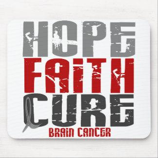 Brain Cancer HOPE FAITH CURE Mouse Mat
