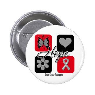 Brain Cancer Hope Love Inspire Awareness 6 Cm Round Badge