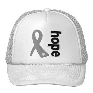 Brain Cancer Hope Ribbon Hats