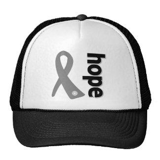 Brain Cancer Hope Ribbon Mesh Hats