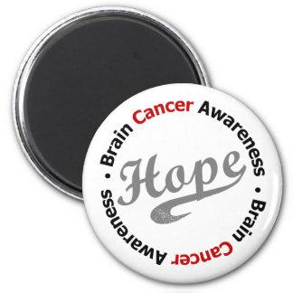 Brain Cancer Hope Sporty Fridge Magnets