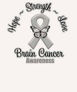 Brain Cancer Hope Strength Love Shirt