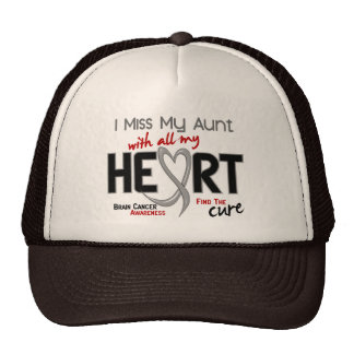 Brain Cancer I MISS MY AUNT WITH ALL MY HEART 2 Trucker Hat