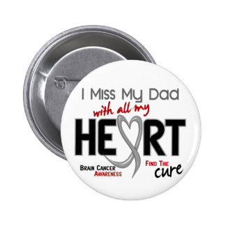 Brain Cancer I MISS MY DAD 6 Cm Round Badge