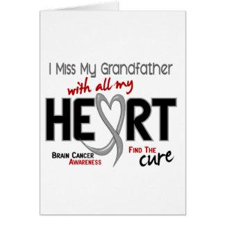 Brain Cancer I MISS MY GRANDFATHER Card