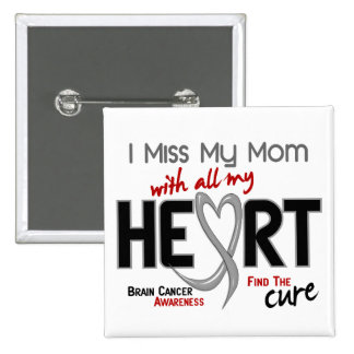 Brain Cancer I MISS MY MOM 15 Cm Square Badge