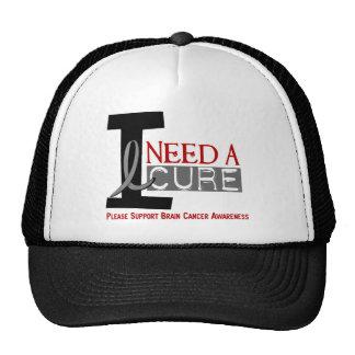 Brain Cancer I NEED A CURE 1 Cap